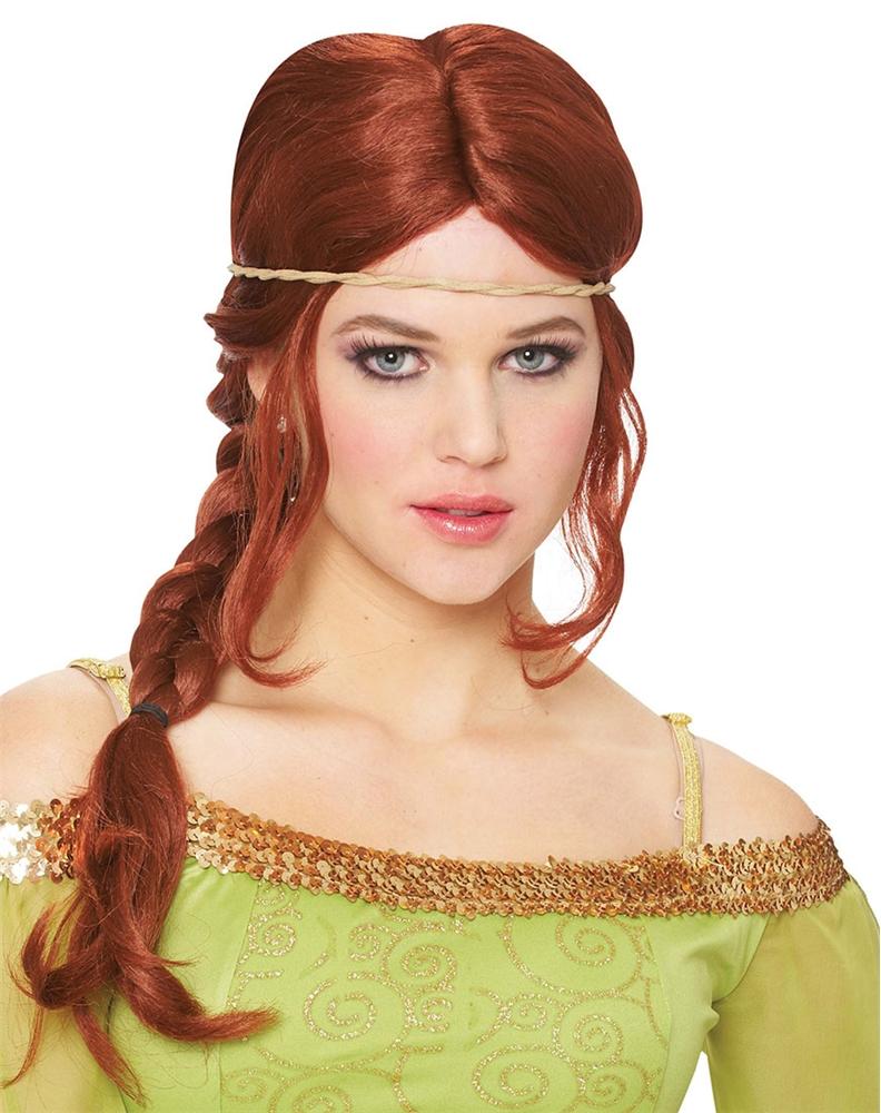 Medieval Braid Natural Red Wig - 275661 | Trendyhalloween.com