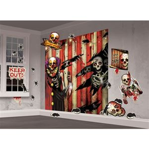 Creepy carnival scene setter decoration kit 309454 for Picaportes para puertas