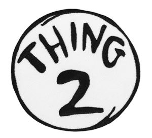 Dr seuss thing 2 embroidered patch 344694 for Thing 1 and thing 2 coloring pages dr seuss