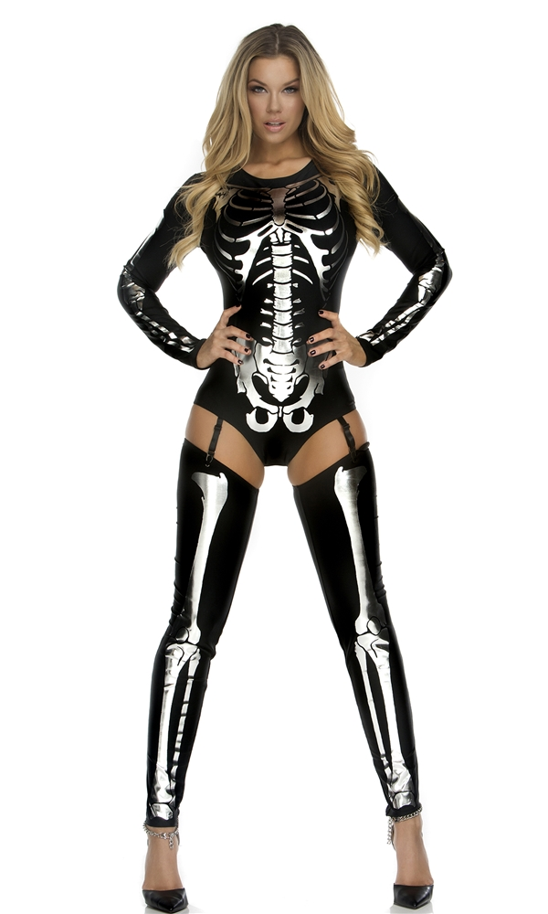 Adult Sexy Skeleton Costume