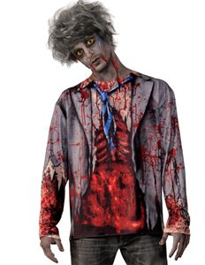 Gory Zombie Adult Men's Shirt