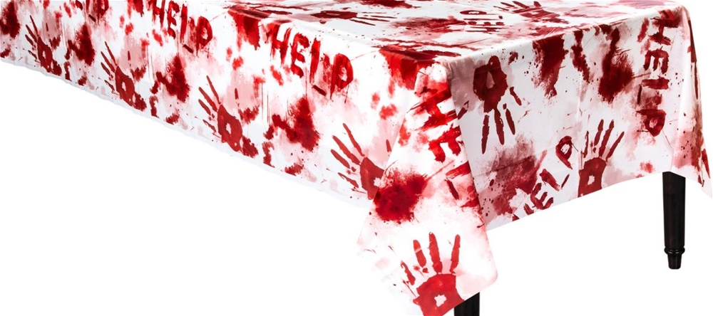 Bloody Handprints Table Topper