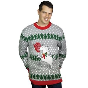 Unicorn Rudolph Adult Ugly Christmas Sweater