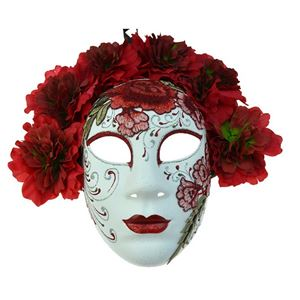 Red Day of the Dead Embroidered Mask