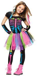 Funky Punk Bones Skeleton Child Costume