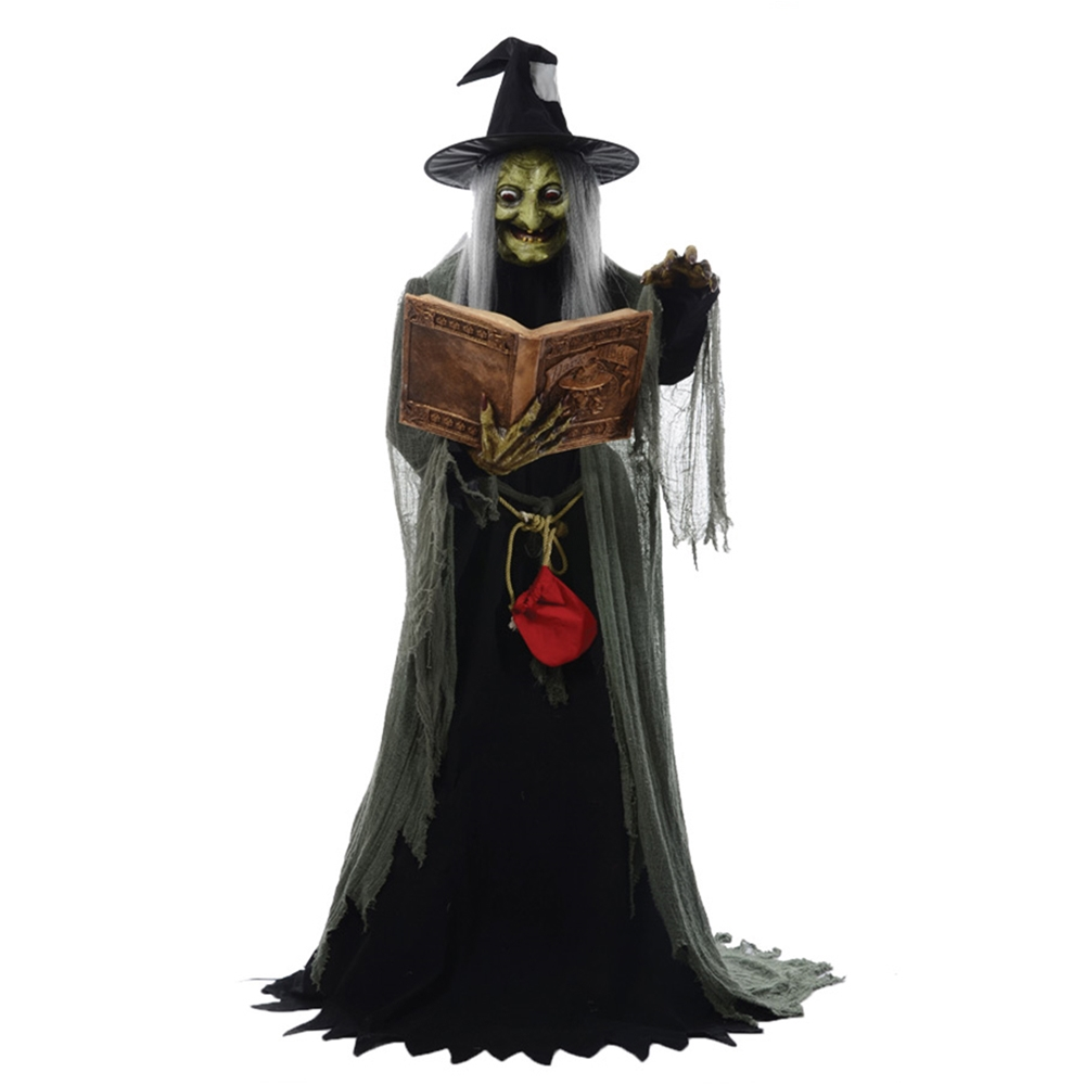 You can buy theSpell Speaking Witch Animated Prop here