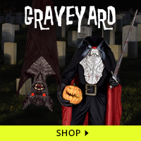 Graveyard Haunt Decorations via Trendy Halloween