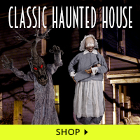 Classic Haunted House Decorations via Trendy Halloween