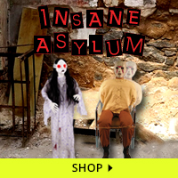Insane Asylum Haunt Decorations via Trendy Halloween