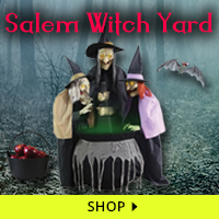 Salem Witch Yard Haunt Decorations via Trendy Halloween