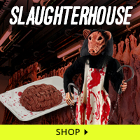 Slaughterhouse Haunt Decorations via Trendy Halloween