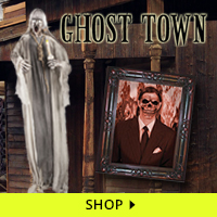 Ghost Town Haunt Decorations via Trendy Halloween