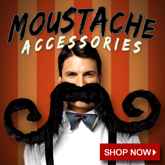 Mustache Accessories via Trendy Halloween