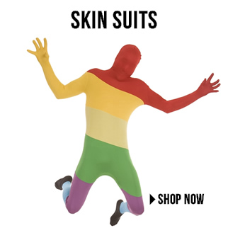 Skin suit costumes via Trendyhalloween.com
