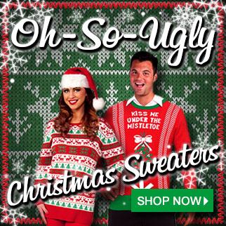 Ugly Christmas Sweaters via TrendyHalloween.com
