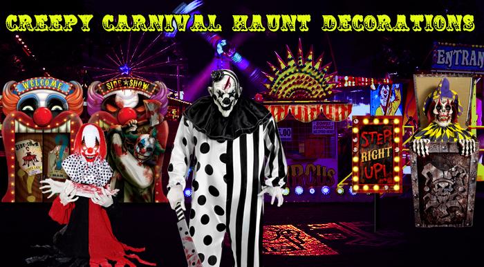 Creepy Carnival Decorations via TrendyHalloween