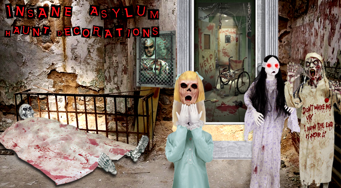 Insane Asylum Haunt Decorations via TrendyHalloween