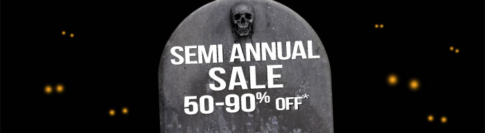 Semi Annual Sale via TrendyHalloween.com
