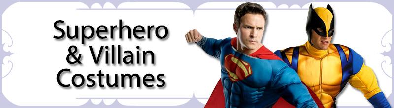 Superheroe & Villain Mens Costumes