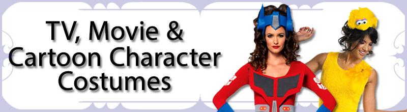 TV, Movie & Cartoon Character Womens Costumes