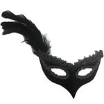 Lena-Black-Masquerade-Mask-with-Silver-Trim