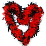 Red-and-Black-Feather-Boa
