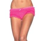 Neon-Pink-Lace-Ruffle-Tanga-Shorts