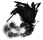 Black-and-Silver-Half-Mask-With-Fans-and-Feathers