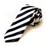 Black-and-White-Striped-Tie