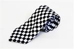 Black-and-White-Checker-Tie