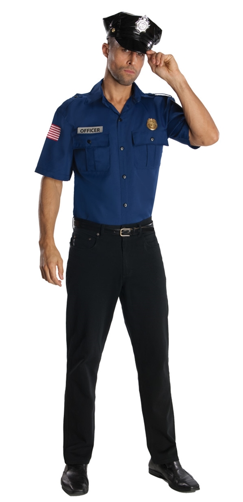 Blue Police Officer Adult Mens Costume