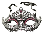 Black-Metal-Venetian-With-Hot-Pink-Crystals-Mask