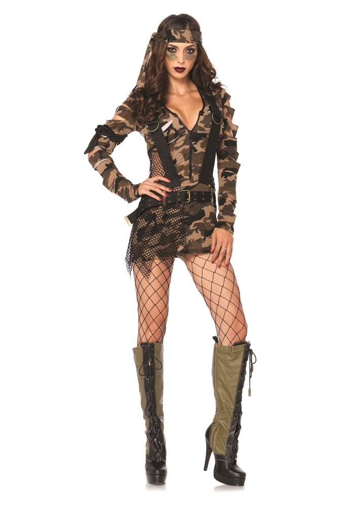 Combat Girl Adult Womens Costume