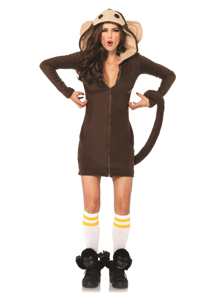 Cozy Monkey Dress Adult Womens Costume