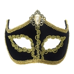 Black-Venetian-Mask-with-Comfort-Arms