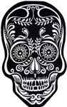 Black-White-Skull-Doormat