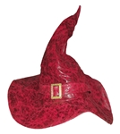 Distressed-Burgundy-Faux-Leather-Witch-Hat