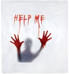 Bloody-Help-Me-Shower-Curtain