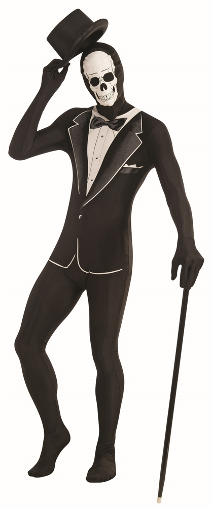 Disappearing Man Skull Tuxedo Teen Bodysuit