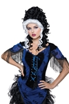 Victorian-Black-and-White-Wig