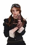 Steampunk-Fingerless-Brown-Gloves