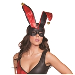 Harlequin-Black-Red-Mask-with-Ears