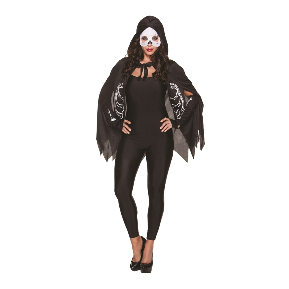 Skeleton Cape Costume Kit