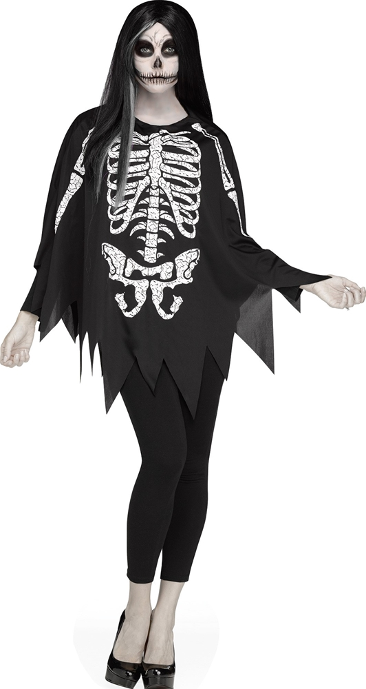 Skeleton Adult Poncho