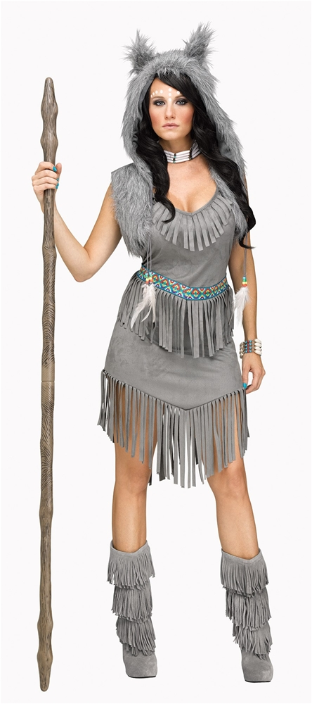 Sexy Wolf Dancer Adult Womens Costume