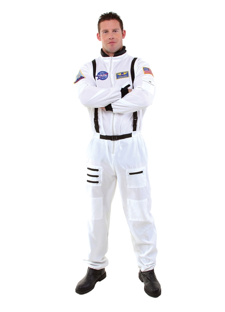 White Astronaut Jumpsuit Adult Mens Costume