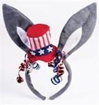 Democrat-Donkey-Patriotic-Headband