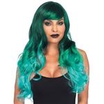 Long-Wavy-Green-Ombre-Wig