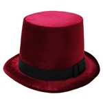 Burgundy-Top-Hat