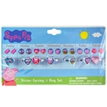 Peppa-Pig-Sticker-Earring-Ring-Set